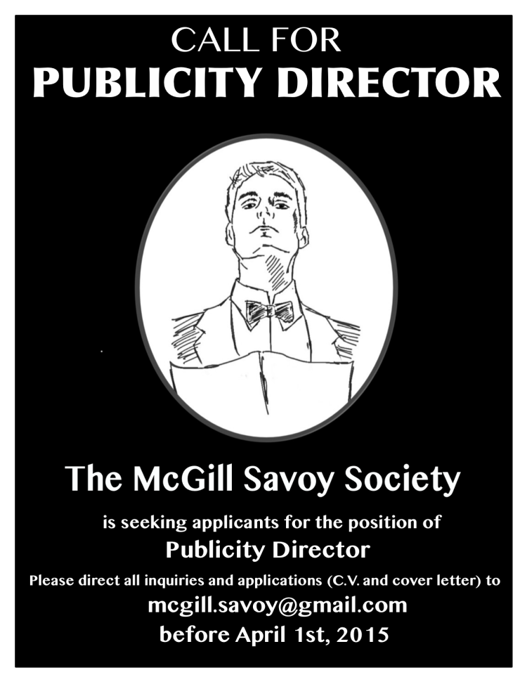 call for publicity director